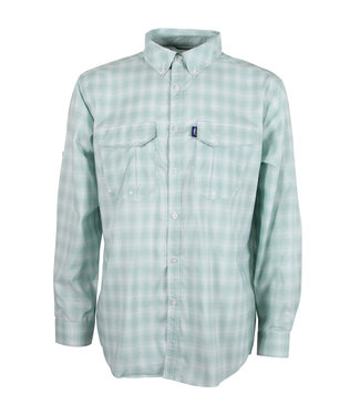 AFTCO Bionic Mens Long-Sleeve Performance Fishing Shirt (Moonstone)