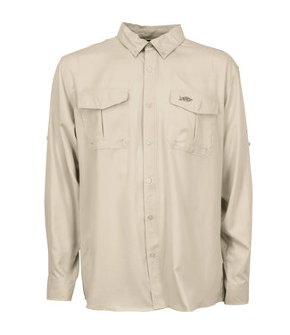 Aftco Aftco Button Down LS Rangle Sand
