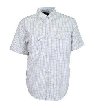 Aftco Aftco Vertex Short-Sleeve Button Down Performance Fishing Shirt