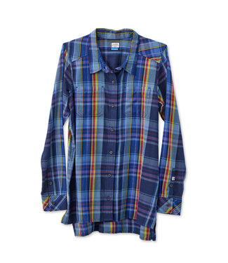 Kavu Kavu Ingrid Women's Button Down Flannel - Ocean Plaid