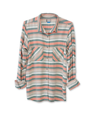 Kavu Kavu Britt Women's Button Down Tee - Peach Tree