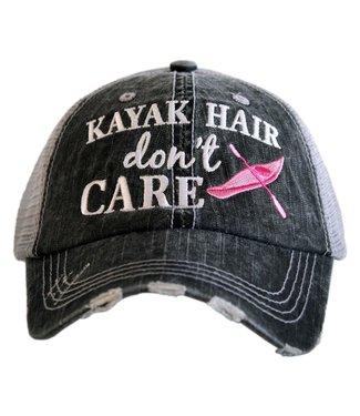 Katydid Katydid Kayak Hair Don't Care Trucker Hat