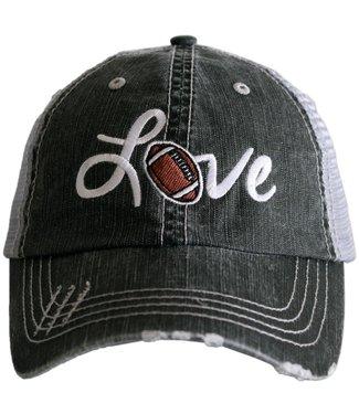 Katydid Love Football Trucker Hat