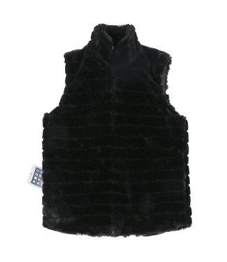 Katydid Katydid Faux Rabbit Fur Vest with Pockets