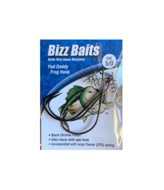 Bizz Baits Bizz Baits Pad Daddy Frog Hook (Size 5/0) - 3 Pack