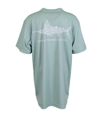 Aftco AFTCO Youth Jigfish Short-Sleeve Fishing T-Shirt (Moonstone)