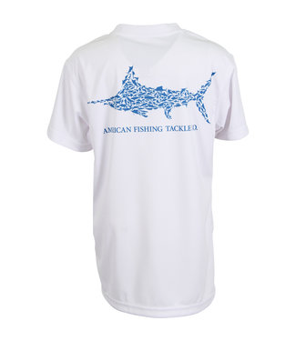 Aftco AFTCO Youth Jigfish Short-Sleeve Fishing T-Shirt (White)
