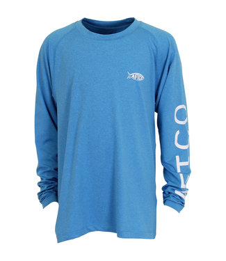 Aftco Aftco Youth Samurai 2 Long-Sleeve Fishing Shirt (Blue)