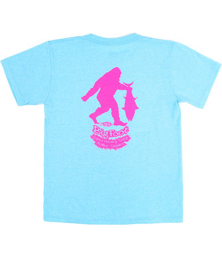 Aftco AFTCO Youth Bigfoot T-Shirt (Blue/Pink)