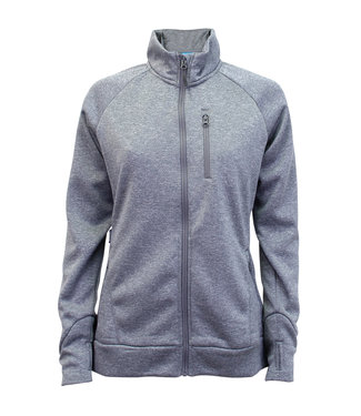 Aftco Mila Microfleece Jacket Heather Gray
