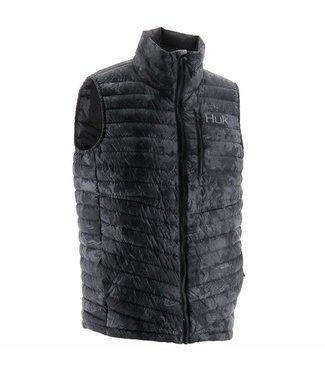 Huk Huk Double Down Vest (Black Camo)