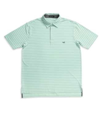Southern Marsh Southern Marsh Oakwood Performance Polo Bimini Green & Lilac