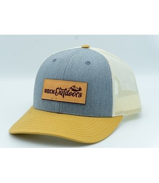Rock Outdoors Rock Outdoors Etched Leather Applique Rock Outdoors Logo Hat (9 Colors)