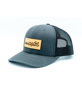 Rock Outdoors Rock Outdoors Etched Leather Applique Rock Outdoors Logo Hat