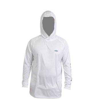 Aftco Aftco Samurai Long Sleeve Hooded Fishing Tee (White)