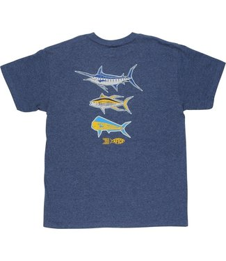 Aftco Aftco Youth Dangle T-Shirt - (Navy Heather)