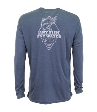 Aftco Aftco Frogger Long Sleeve T-Shirt (Navy Heather)