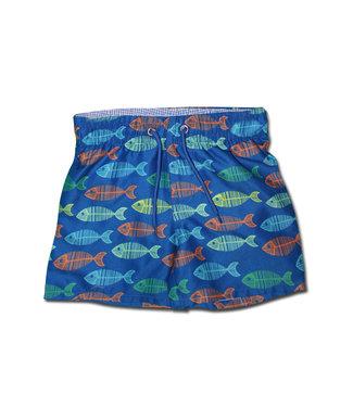 Mary Elyse Blue Fish Trunks