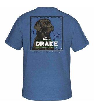 Drake Drake YTH Block Head Lab SS Tee Royal Heather