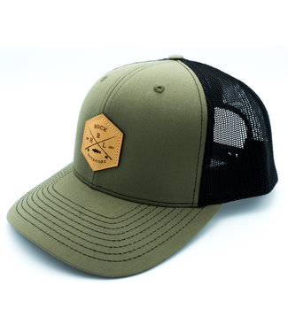 Rock Outdoors Rock Outdoors Crossed Leather Patch HRL Trucker Hat