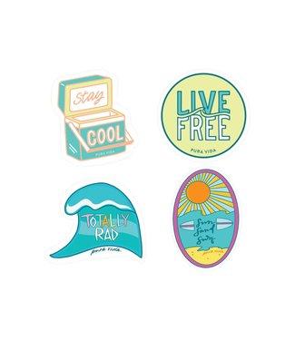Puravida Pura Vida 4 Sticker Sheet - Surfer Girl