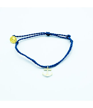 Puravida Puravida Anchors Away Gold Bracelet - Indigo