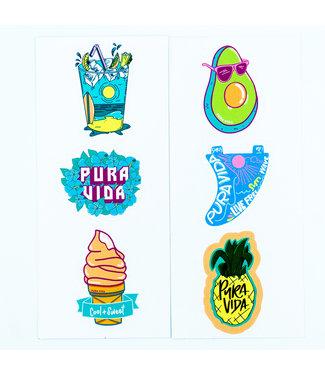 Puravida Puravida 6 Sticker Sheet
