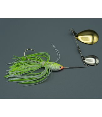 Dave's Tournament Tackle Dave's Tiger Shad 1/2 oz. Chartruce/White NGCC
