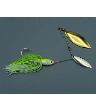 Dave's Tournament Tackle Dave's Tiger Shad 3/8 oz Chartruese/White NGZ