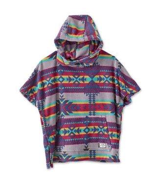 Kavu Kavu Little Seeker Youth Fleece Poncho - Canyon Blanket