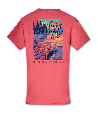 Southern Couture Southern Couture Classic Livin' On Lake Time Coral Silk