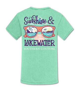 Southern Couture Southern Couture Comfort Sunshine & Lake Water SS Tee Island Reef