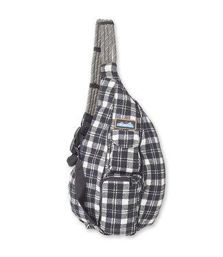 Kavu Kavu Plaid Rope Bag Oatmeal