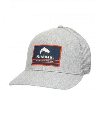Simms Simms Original Patch Trucker Hat Heather Grey
