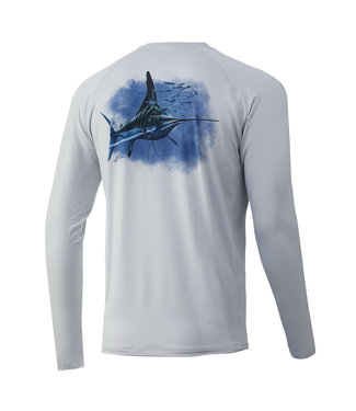 Huk Huk KC Midnight Magic Pursuit LS Performance Shirt Glacier (051)