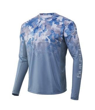 Huk Huk Icon X KC Refraction Camo  Fade LS Performance Shirt