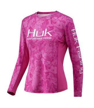 Huk Huk W Camo Icon LS Performance Shirt