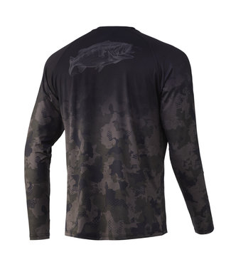 Huk Huk Refraction Fish Fade LS Performance Shirt