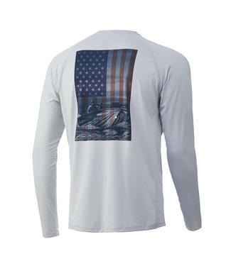 Huk Huk KC American Shotgun Pursuit  LS Performance Shirt Glacier (051)