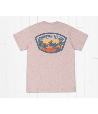 Southern Marsh Southern Marsh Fading Fast Washed Camellia SS Tee