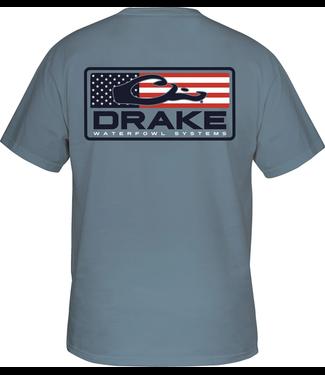 Drake Drake Patriotic Bar SS Tee Blue Jean