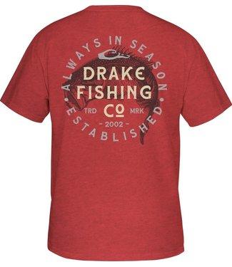 Drake Drake DPF Vintage Bass SS Tee Red Heather