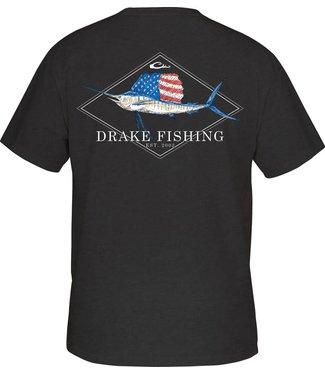 Drake Drake DPF Patriotic Sail SS Tee Black Heather