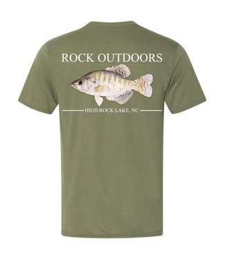 Rock Outdoors Rock Outdoors SS Crappie Tee Army Green