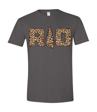 Rock Outdoors Rock Outdoors YTH RO Leopard Charcoal SS Tee