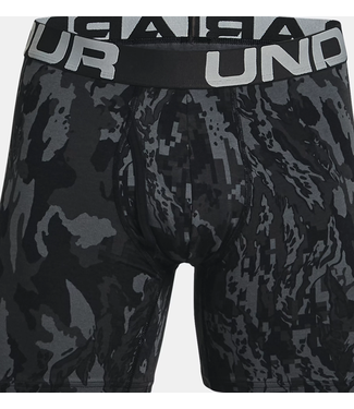 """Under Armour UA Charged Cotton 6"""" Novelty Boxerjock (3-pack)  Black / Baroque Green / Academy"""
