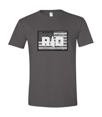 Rock Outdoors Rock Outdoors RO American Flag Grayscale SS Tee Charcoal