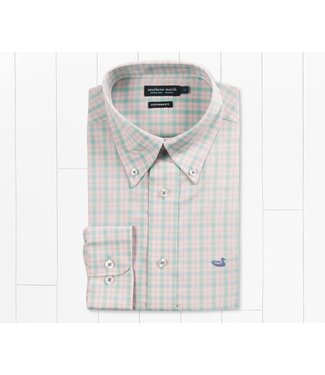 Southern Marsh Southern Marsh Idlewild Performance Gingham Mint & Pink Button Down