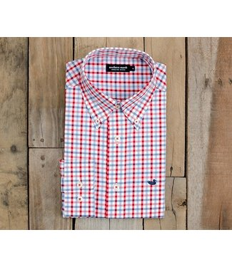 Southern Marsh Southern Marsh Evan Navy Red Gingham Button Down