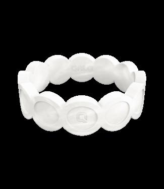 Qalo Standard Womens Pearl Scallop Silicone Ring